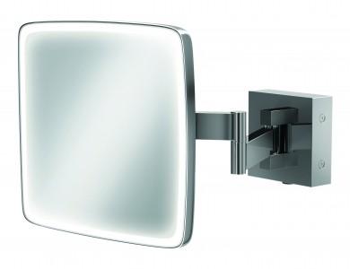 HIB 21200  Eclipse Square LED Magnifying Mirror 180 x 180mm