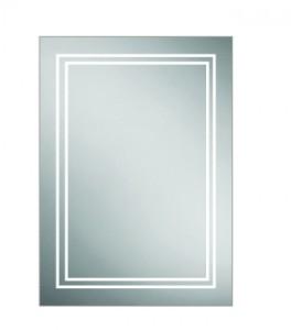 HIB 49400 Edge 50 Aluminium Mirrored Cabinet 700 x 500mm