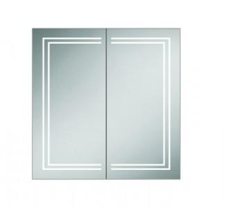 HIB 49600 Edge 80 Aluminium Mirrored Cabinet 700 x 800mm