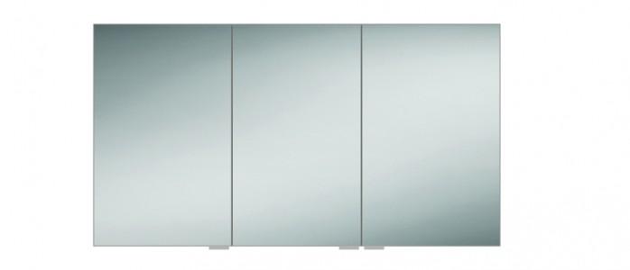 HIB 48200 Eris 120 Aluminium Mirrored Cabinet 700 x 1200mm