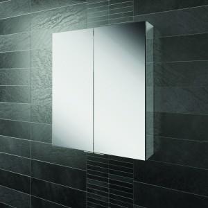 HIB 45200 Eris 60 Aluminium Mirrored Cabinet 700 x 600mm