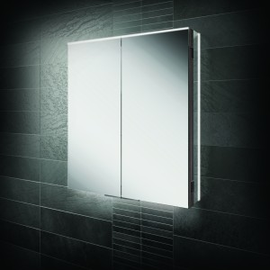 HIB 50600  Ether 60 LED Demisting Mirrored Cabinet 700 x 600mm