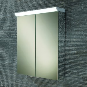HIB 44900 Flare LED Mirrored Cabinet with Mirrored Sides 700 x 600mm