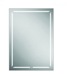 HIB 48400 Groove 50 LED Demisting Mirrored Cabinet with Bluetooth 700 x 500mm