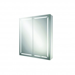 HIB 48500 Groove 60 LED Demisting Mirrored Cabinet with Bluetooth 700 x 600mm