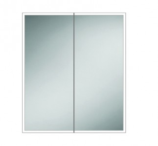 HIB 46500 Qubic 60 LED Mirrored Cabinet 700 x 600mm