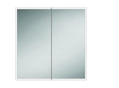 HIB 46600 Qubic 80 LED Mirrored Cabinet 700 x 800mm