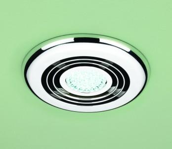 HIB 32300 Turbo Inline Fan Chrome - Cool White LED 145mm