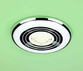 HIB 33900 Turbo Inline Fan  Chrome -Warm White LED 145mm