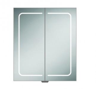 HIB 51500 Vapor 60 LED Demisting Mirrored Cabinet 700 x 600mm