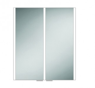 HIB 46100 Xenon 60 LED Mirrored Cabinet with Mirrored Sides 700 x 605mm