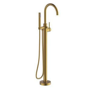 Britton Hoxton Floorstanding Bath Shower Mixer - Brushed Brass [HOX009BB]