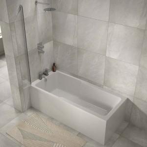 The White Space IBA1775 I-Bath Single Ended Shower Bath 1700 x 750mm - White