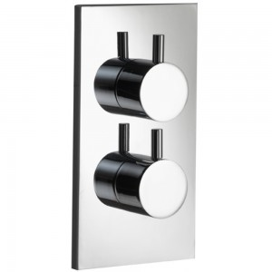 PURA - Ivo Single Outlet Dual Control Concealed Thermostatic Valve with ABS Coverplate IVDCV