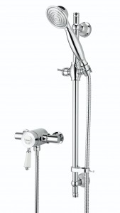 BRISTAN Colonial2 Thermostatic Surface Mounted Shower Valve with Adjustable Riser Chrome