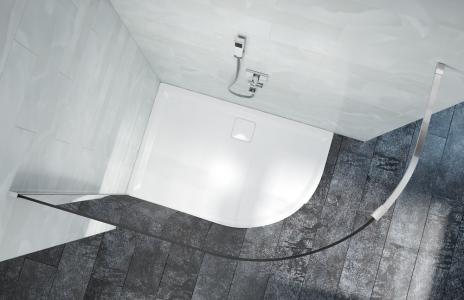 MERLYN L1QRST Level 25 - Offset Quadrant Shower Tray