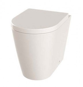 The White Space Lab Rimless Back to Wall WC Pan - White [LABW1]