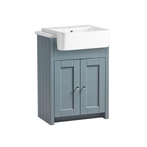 Tavistock LAN6SCTMB Lansdown 60cm Vanity Unit for Semi-Recessed Basin - Blue