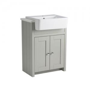 Tavistock LAN6SCTPG Lansdown 60cm Vanity Unit for Semi-Recessed Basin - Pebble Grey