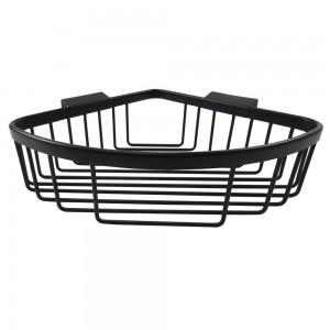 Roman - Large Curved Corner Basket Black  [RSB02B]