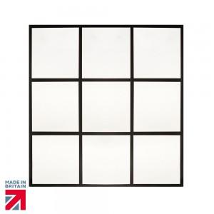 Roman - Arched Black Grid Mirror   [MIR02]