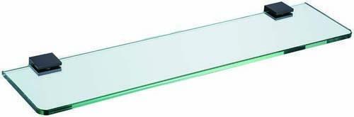 The White Space Legend Glass Shelf - Black  [LEG12B]