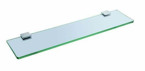 The White Space Legend Glass Shelf - Chrome  [LEG12C]