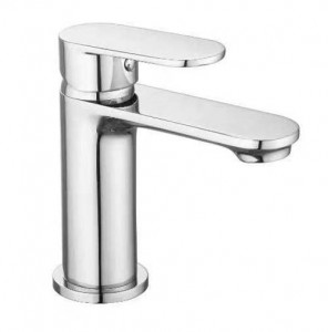 The White Space True Brassware Monobloc Basin Mixer with Sprung Plug Waste - Chrome [LEV02]