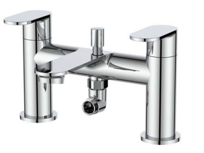 The White Space True Brassware Bath Shower Mixer with hose and handset - Chrome [LEV04]