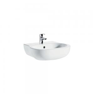 Imex Ceramics LH1010C Xcite Semi Pedestal Basin 450mm 1 Taphole White