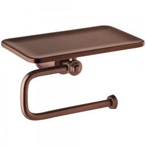 Flova LI8989-ORB Liberty-Bronze Toilet Roll Holder with Shelf