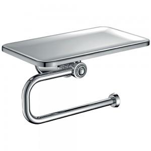Flova LI8989 Liberty-Chrome Toilet Roll Holder with Shelf