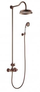 Flova LITSKIT-ORB Liberty-Bronze Exposed Thermostatic Shower Column