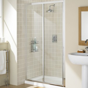 Lakes Classic - Fully Framed Slider Door 1000 x 1850mm - Polished Silver  LK12S100S