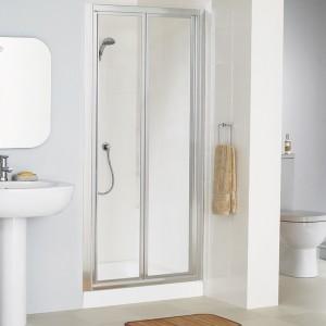 Lakes Classic - Fully Framed Bi-Fold Door 700 x 1850mm - Polished Silver  LK1B070S