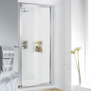 Lakes Classic - Fully Framed Pivot Door 1000 x 1850mm - Polished Silver  LK1P100S