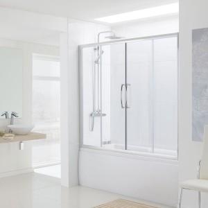 Lakes Classic - Over Bath Semi Frameless Double Slider Door 1500 x 1500mm  LKV2BS150S