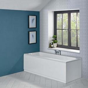 Tavistock LPPL75W Levant 750mm Bath End Panel & Plinth - White