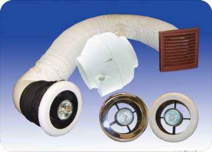 Vectaire LUXVENTPLUS Centrifugal Extractor Fan Kit with Light