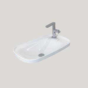 Imex Ceramics LW1826 Liberty Countertop Basin 650 x 400mm 1 Taphole White