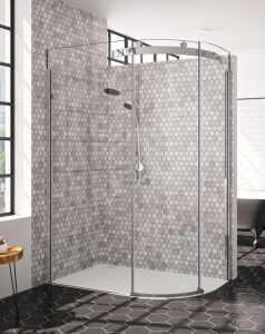 MERLYN Series 10 - 1 Door Offset Quadrant with Shower Tray