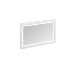 Burlington Illuminated Framed Mirror 120 x 75cm with LED illumination and infra-red switch. IP44 Matt White  [M12MW]