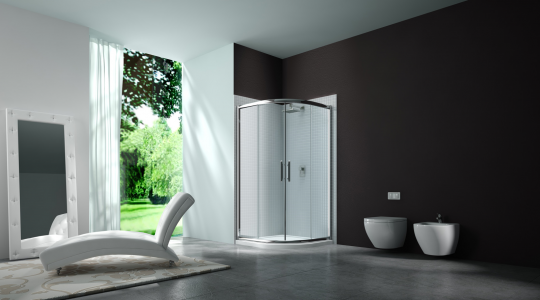 MERLYN MS6321 Series 6 - Framed 2 Door Quadrant with Shower Tray