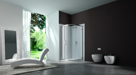 MERLYN M63225 Series 6 - Framed 1 Door Quadrant 900mm without Shower Tray