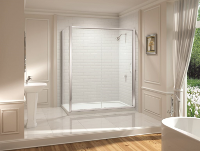 MERLYN M882FSLD Series 8 - Framed Sliding Door without Shower Tray