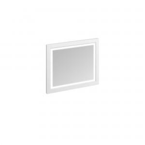 Burlington Illuminated Framed Mirror 90 x 75cm with LED illumination and infra-red switch. IP44 Matt White  [M9MW]