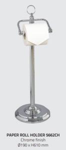 Miller 5662CH Classic Freestanding Toilet Roll Holder 610mm Chrome