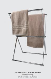 Miller 5668CH Classic Folding/Freestanding Towel Holder 760x545mm Chrome