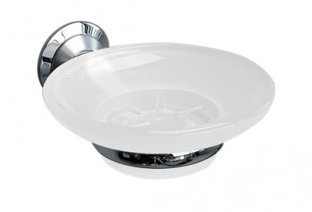 Miller 6304C-S Metro Frosted Glass Soap Dish & Holder Chrome