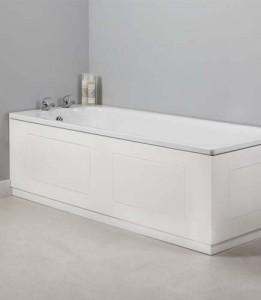 Tavistock MPR2W Meridian Routed Bath Side Panel 1700mm - White